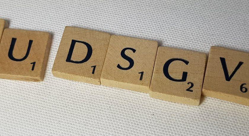 EU DGSVO - Schriftzug in Buchstaben